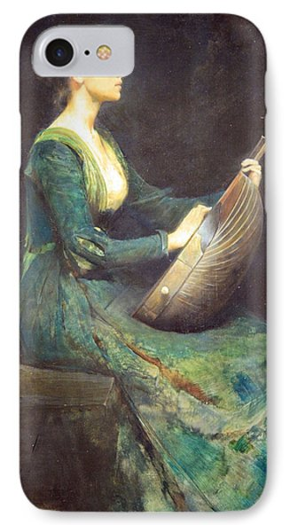 Dewing's Lady With A Lute IPhone Case by Cora Wandel
