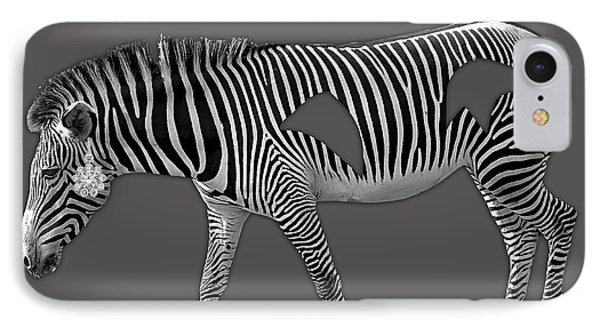 Diamond In The Rough Zebra IPhone Case
