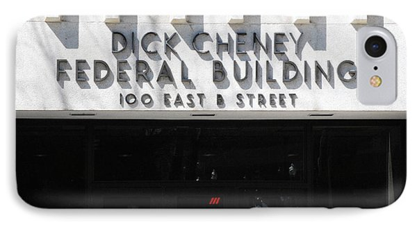 Dick Cheney Federal Bldg. IPhone Case by Oscar Williams