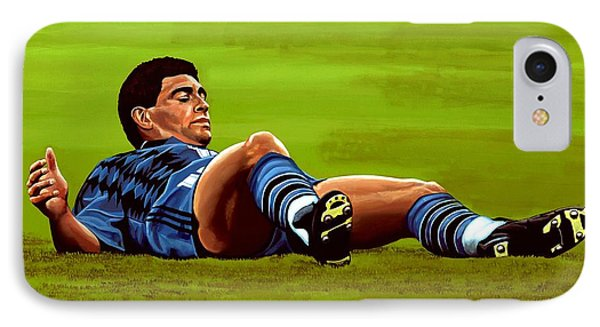 Diego Maradona 2 IPhone Case by Paul Meijering