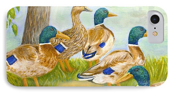 Diva Duck And The Mallards IPhone Case by Jeanne Kay Juhos