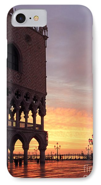 Doges Palace At Sunrise Venice Italy Phone Case by Matteo Colombo