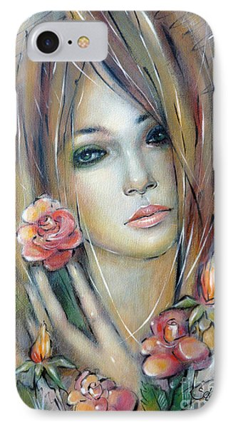 Doll With Roses 010111 Phone Case by Selena Boron