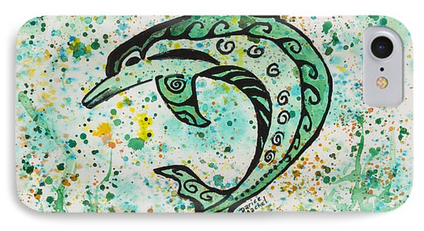 IPhone Case featuring the painting Dolphin 2 by Darice Machel McGuire
