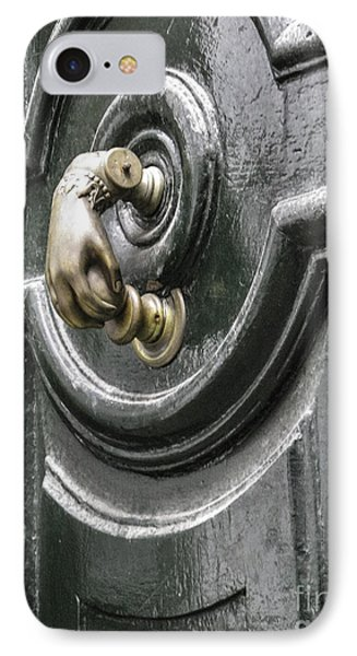 IPhone Case featuring the photograph Door Knocker by Arlene Carmel