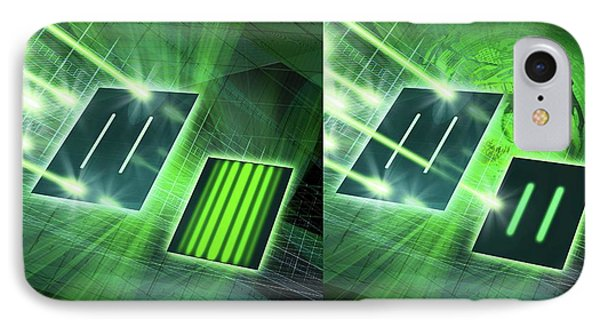 Double-slit Experiment IPhone Case by Harald Ritsch