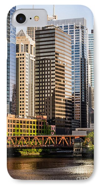 Downtown Chicago Buildings At Lake Street Bridge IPhone Case by Paul Velgos