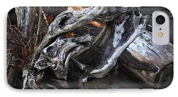 Driftwood On The Beach Phone Case by Tom Janca