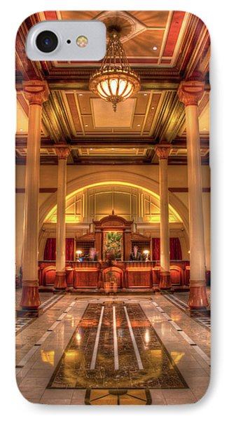 Driskill Hotel Check-in IPhone Case by Tim Stanley