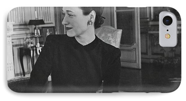 Duchess Of Windsor In Her Paris Home IPhone Case by Horst P. Horst