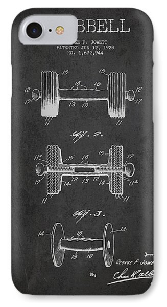 Dumbbell Patent Drawing From 1927 IPhone Case