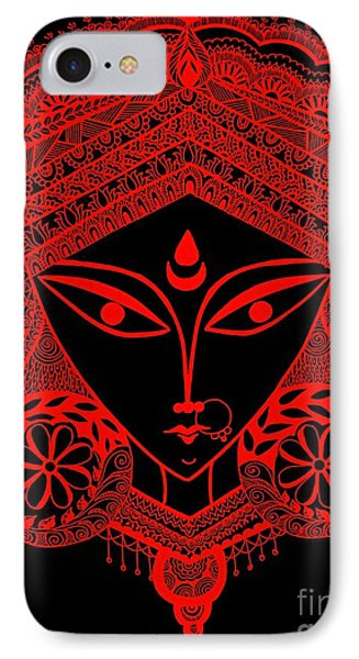 Durga Maa IPhone Case by Sketchii Studio