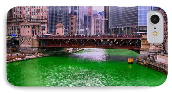 Dyeing The Chicago River Green IPhone Case by Jerome Lynch