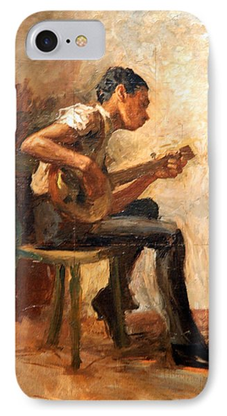 Eakins' Study For Negro Boy Dancing -- The Banjo Player IPhone Case by Cora Wandel