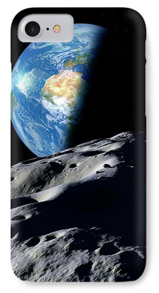 Earth And Asteroid IPhone Case by Detlev Van Ravenswaay