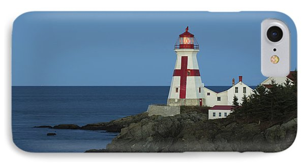 East Quoddy Lighthouse At Dusk IPhone Case by Scott Leslie