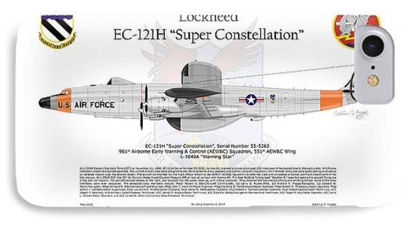 Ec-121h Super Constellation Phone Case by Arthur Eggers