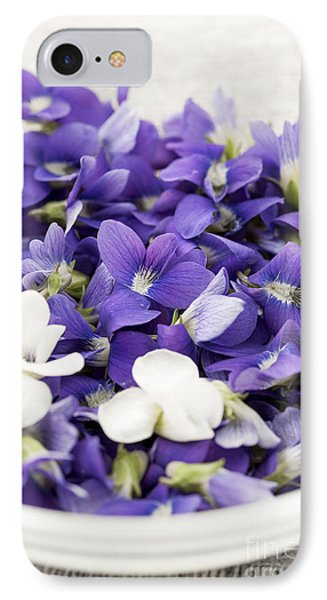 Edible Violets In Bowl IPhone Case by Elena Elisseeva