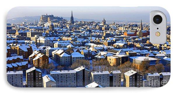 Edinburgh Winter Cityscape Phone Case by Craig B