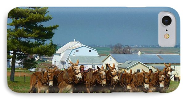 IPhone Case featuring the photograph Eight Horse Hitch by Jeanette Oberholtzer