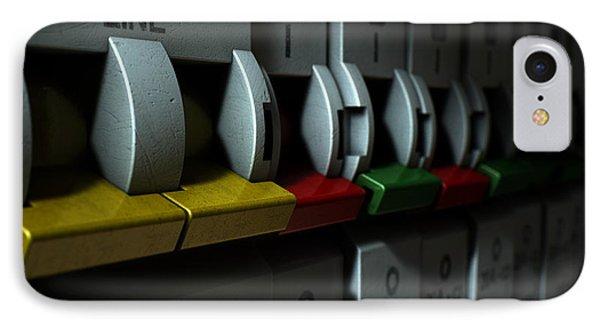 Electrical Circuit Breaker Panel IPhone Case by Allan Swart