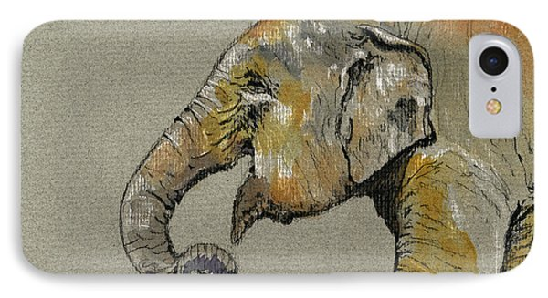 Elephant Indian IPhone Case by Juan  Bosco