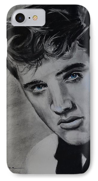IPhone Case featuring the drawing Elvis Presley - America by Eric Dee