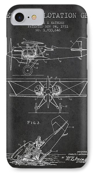 Emergency Flotation Gear Patent Drawing From 1931 IPhone Case