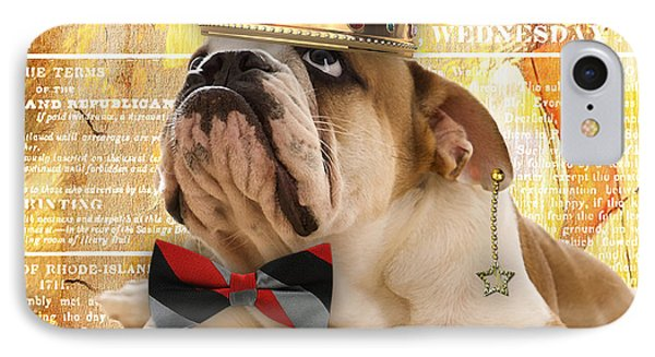 English Bulldog Bowtie Collection IPhone Case by Marvin Blaine