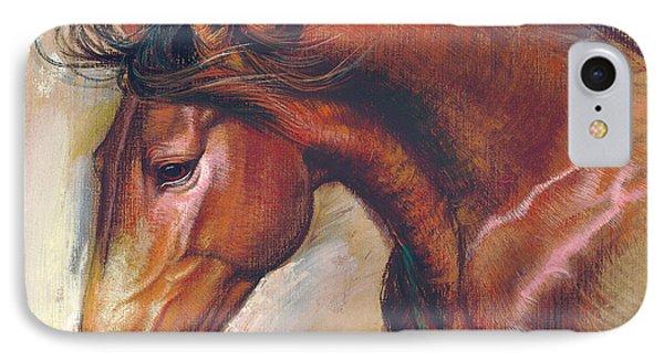 English Horse Variant 1 IPhone Case by Zorina Baldescu