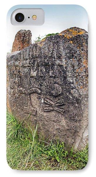 Ethiopian Stone Stele At Tiya IPhone Case by Peter J. Raymond
