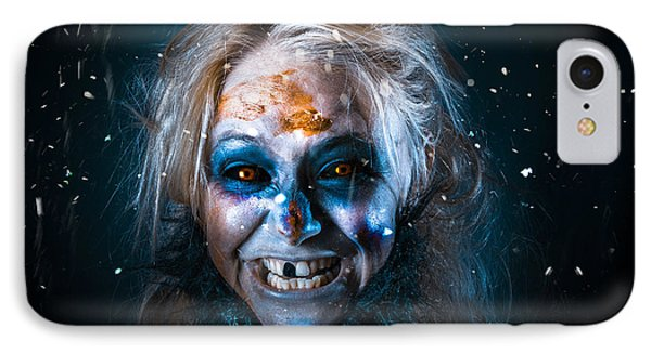 Evil Winter Monster Smiling Beneath Falling Snow IPhone Case by Jorgo Photography - Wall Art Gallery