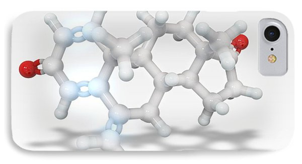 Exemestane Breast Cancer Drug Molecule IPhone Case by Ramon Andrade 3dciencia