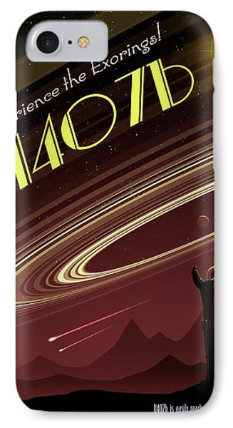 Exoring J1407b - Travel Poster IPhone Case by Mark Garlick
