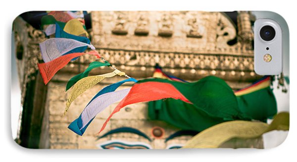 Eye Boudhanath Stupa In Nepal Phone Case by Raimond Klavins