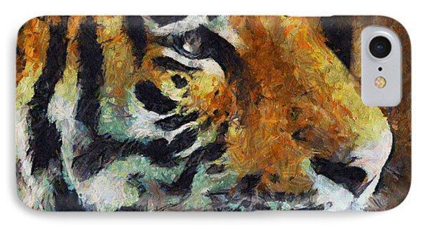 Eye Of The Tiger IPhone Case by Georgiana Romanovna