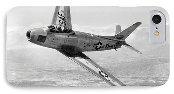 F-86 Sabre, First Swept-wing Fighter IPhone Case by Science Source