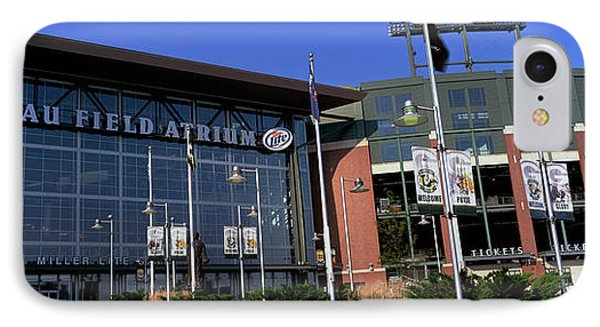 Facade Of A Stadium, Lambeau Field IPhone Case by Panoramic Images