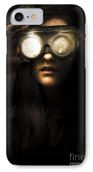 Face Of Industrial Grunge IPhone Case