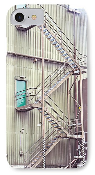 Factory Steps IPhone Case by Tom Gowanlock