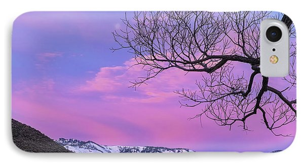 IPhone Case featuring the photograph Fading Winter Moon by Nancy Marie Ricketts