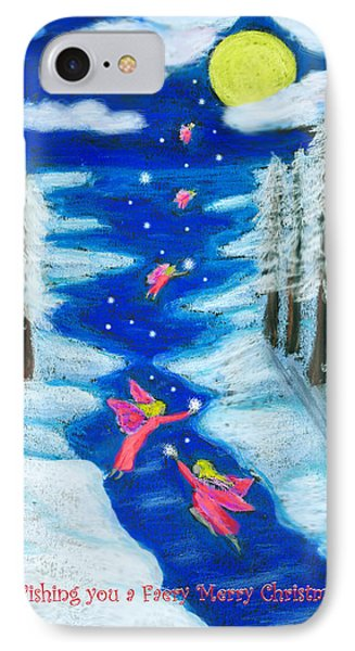 Faery Merry Christmas IPhone Case by Diana Haronis