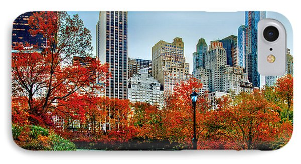 Fall In Central Park IPhone Case by Az Jackson