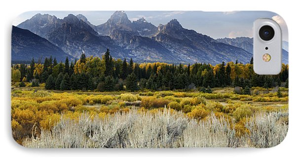 Fall In The Tetons IPhone Case by Eric Foltz