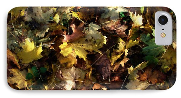 Fallen Leaves IPhone Case by Ron Harpham