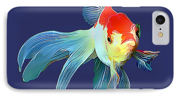 Fantail Goldfish IPhone Case by Wernher Krutein