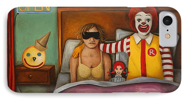 Fast Food Nightmare Phone Case by Leah Saulnier The Painting Maniac