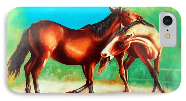 IPhone Case featuring the painting Feelings... by Ragunath Venkatraman