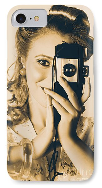 Female Fashion Photographer Taking People Pictures IPhone Case by Jorgo Photography - Wall Art Gallery