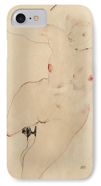 Female Nude IPhone Case by Egon Schiele